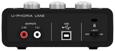 BEHRINGER USB Audio Interface U-PHORIA UM2 NEW Free Shipping + Tracking SH