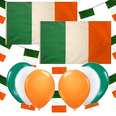 68 pc ST PATRICKS DAY FLAGS BUNTING & BALLOONS IRISH PARTY DECORATIONS PACK D