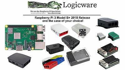 Raspberry Pi 3 Model B+ PLUS | Choose your favourite Case to go with your Pi !