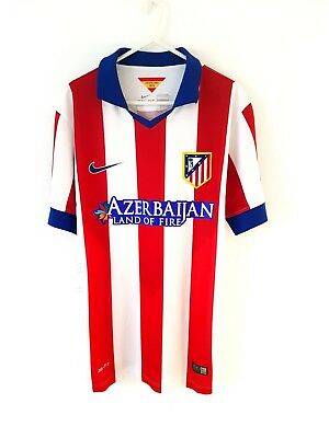Atletico Madrid Home Shirt 2014. Small Adults. Nike. Red Football Top Only S.