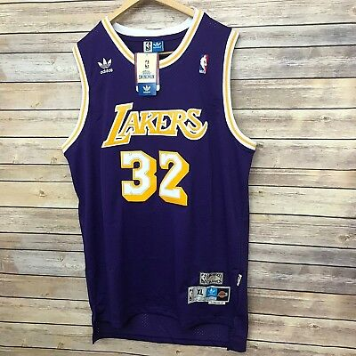 65eb1fa2dcb Magic Johnson Jersey Large Los Angeles Lakers Adidas LA Hardwood Classics  Purple