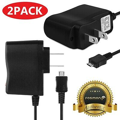 2X AC Wall Micro USB Cable Charger Adapter Plug for Samsung Sony Xiaomi Huawei