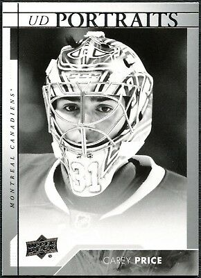 Carey Price #P-46 Upper Deck 2017-18 UD Portraits Ice Hockey Chase Card (C2446)