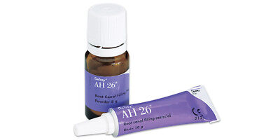 AH 26 Kit Root Canal Sealer Material By Dentsply 8gm Powder + 10gm Resin