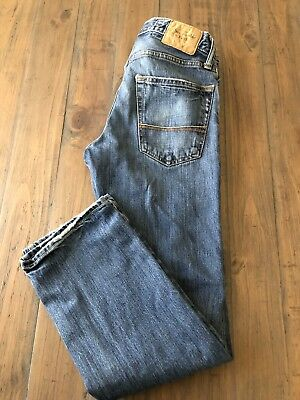 Men's Abercrombie & Fitch Button Fly Remsen Low Slim Straight Jeans Sz 28 X 30