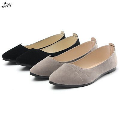 88249ae61bd1 Nis Women Pointed Toe Oxfords Boat Ballet Casual Flats Loafers Slip-on  Moccasins
