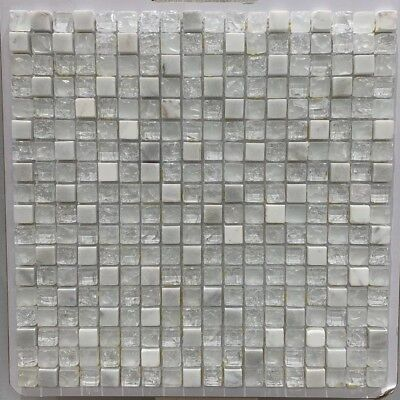 ASS-13 UNICORN 5/8 X 5/8 Glass Mosaic And Marble Tile for Backsplash/ 15 SHEETS
