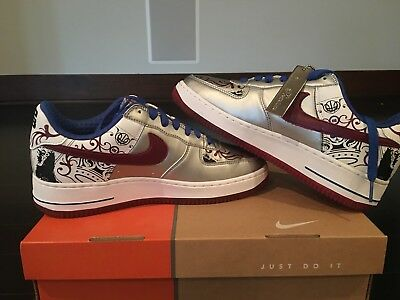 552dd0e7367 NIKE AIR FORCE One 1 LeBron James Collection Royale Size US 7 313985 ...