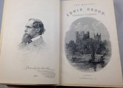 Antique Mystery of Edwin Drood and Master Humphreys Clock Charles Dickens 1914
