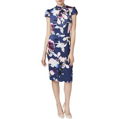 9743d73b8e8d Betsey Johnson Womens Navy Floral Print Party Special Occasion Dress 0 BHFO  9426