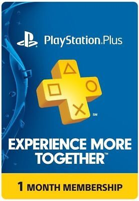 1 Month Playstation Plus Membership PSN, PS3, PS4 Digital Code Delivered Fast