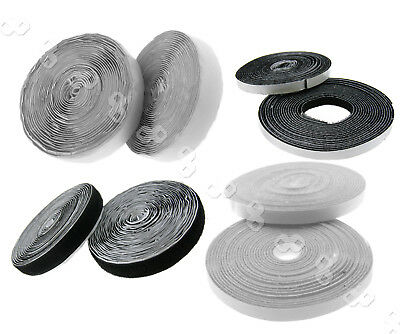 Self Adhesive Hook Loop Tape Fastening Fastener Strong Sticky 10MM/20MM x 5M