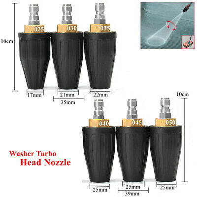 Washer Turbo Head Nozzle for High Pressure Water Cleaner 3600PSI 2.5/3.0/3.5/4.5