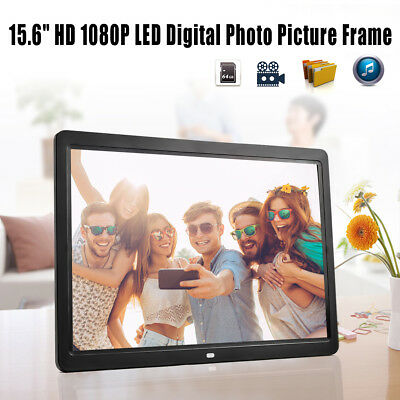 """15"""" HD LCD Digital Photo Frame Picture 1080P MP4 Movie MP3 Player Remote Control"""