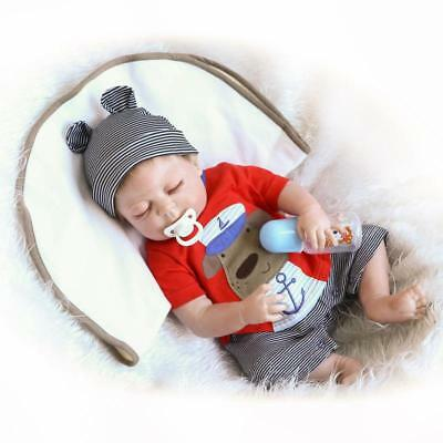 22'' Realistic Handmade Full Body Silicone Reborn Baby Doll with Clothes Toys UK