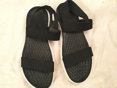d1c5b30f79d25c Crocs Women s LiteRide Black White Sandals Size 11