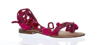 1455b45ea24 CHINESE LAUNDRY WOMENS Portia Pink Suede Gladiators Size 7.5 ...
