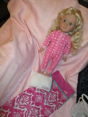 Large Size Sindy Doll Blonde Hair Blue Eyes& Our Generation outfit/Sleeping bag