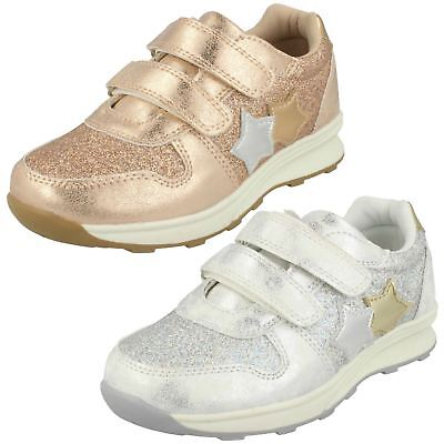Girls Spot On Casual Star Design Glittery Trainers