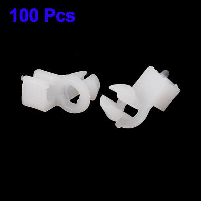 Door Lock Fastener Rod Clips Car White Plastic Auto 8mm Durable Useful Portable