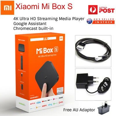 Genuine Xiaomi Mi Box S Global Version Android 8.1 4K Smart TV Box HDR MDZ-22AB