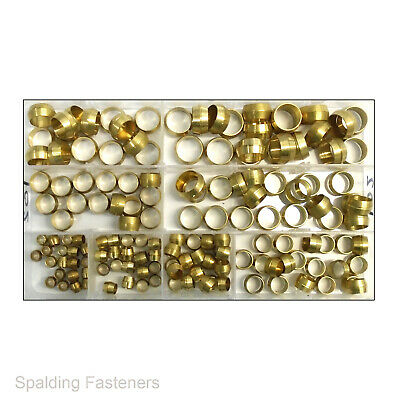 Assorted Metric Brass Olives Plumbing Compression Fitting, Water Pipe Gas
