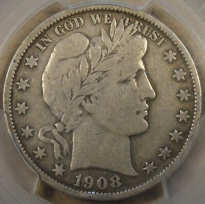 1908 Barber Half Dollar PCGS VF20 In My Opinion is a F15