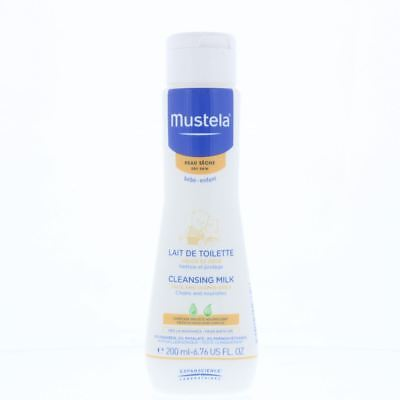 Mustela Face And Diaper Area Cleansing Milk 200ml Cleans And Nourishes