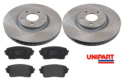 Pads Qashqai+2 1.6 130bhp 2.0 08-14 Drilled Grooved Front Brake Discs