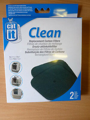 CATIT CLEAN REPLACEMENT CARBON FILTERS for CATIT HOODED CAT PAN pack of 2