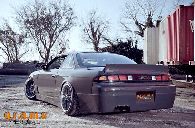 Rear Wide Fenders / Quarters +50mm for Nissan S14 S14a 200SX Silvia Body Kit v8