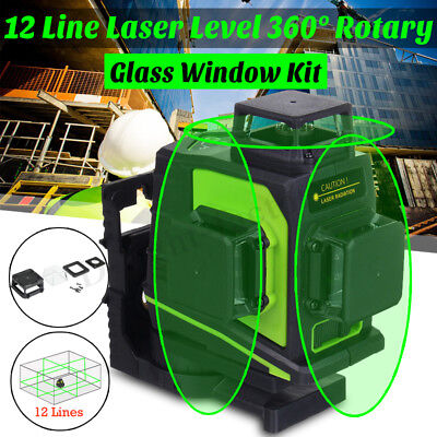 Exact 12 Line Laser Level Self Leveling 3D 360° Rotary Cross Measure Tools Hot
