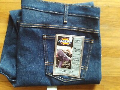 Dickies blue jeans new w/tags 42 x 30 regular denim work pants 5 pocket new fit