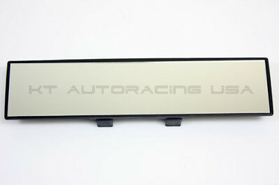 JDM STYLE CUSTOM FIT 300mm SUPER WIDE CAR INTERIOR FLAT REARVIEW MIRROR NO CURVE