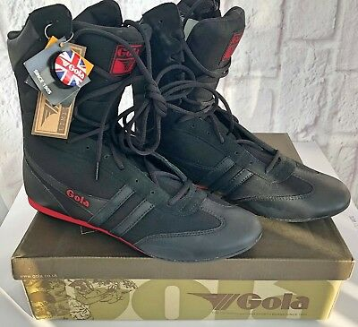 Gola Knockout Mens Boxing Boots Shoes Size UK10 Black Suede Limited Edition NEW