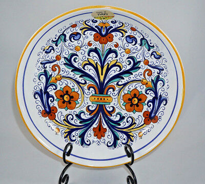 "NWT ~ NOVA DERUTA Large 11.25"" Pasta Serving Bowl MADE & HAND PAINTED in ITALY"