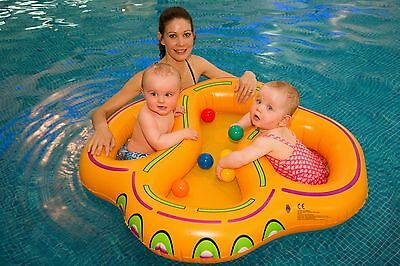 Twin swim float for infant twins  swimming aid double babies ring new