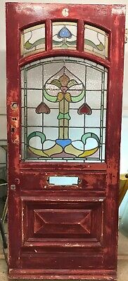 Victorian Stained Glass Front Door Reclaimed Old Period Antique Lead Art Nouvea