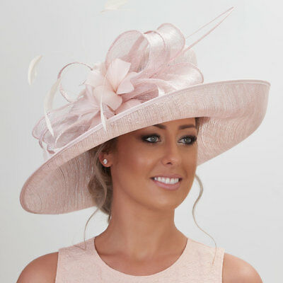 Gorgeous Sinamay & feathers large Statement Hat for Wedding,races,occasion.