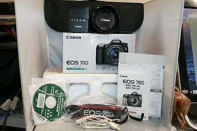 Canon EOS 70D 20.2MP Digital SLR Camera - (Kit w/ EF-S IS STM 18-135mm Lens)
