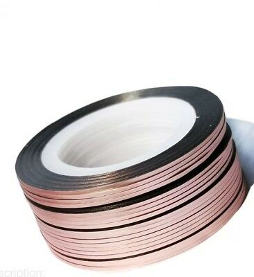 Rose Gold Nail Art Striping Tape Line Strips Nails Decoration Stickers 2mm