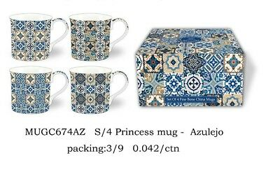Fine Bone China Set Of 4 Gift Boxed Mugs Ajelzeo  Design