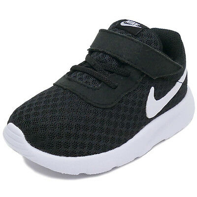 NIKE TANJUN TDV Toddler Boy Shoes SNEAKERS BLACK  GOLD Kids 818383 ... 201ac0d8c2