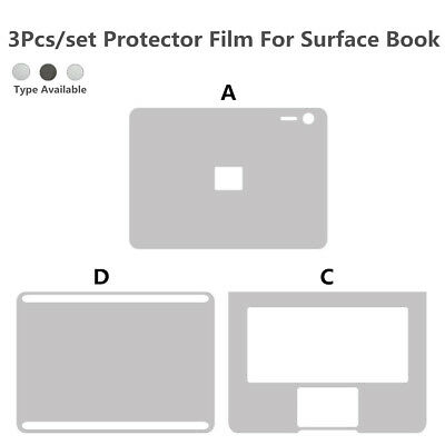 3pcs Body Cover Sticker Film Trackpad Skin For Microsoft Surface Book 13.5''  AU