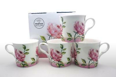 Fine Bone China Set Of 4 Gift Boxed Mugs Emily Rose Design