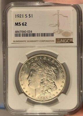 1921-D $1 NGC MS 62 Morgan Silver Dollar