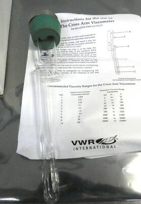 R156696 VWR Cross-Arm Viscometer AST M D445 D2170  Size 4