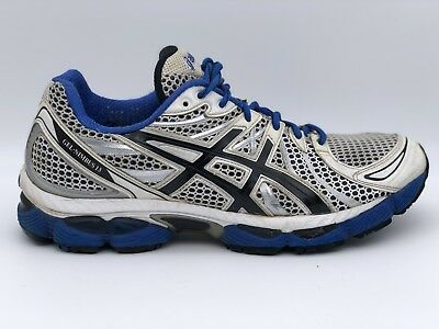 258ac03f4d Asics GEL NIMBUS 13 T142N Mens 9.5 / 43.5 EU White Blue Black Running Shoes