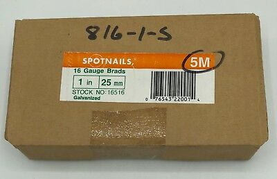 SpotNails 16 Gauge Brads 1 inch (25mm) Galvanized #16516