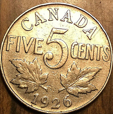 1926 CANADA 5 CENTS - Keydate coin